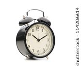 black classic style alarm clock ... | Shutterstock . vector #114206614