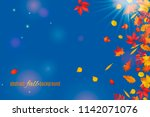 autumn leaves isolated on clear ...   Shutterstock .eps vector #1142071076