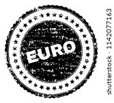 euro seal print with corroded...   Shutterstock .eps vector #1142077163