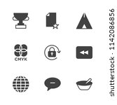 modern simple vector icon set.... | Shutterstock .eps vector #1142086856