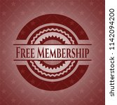 free membership badge with red... | Shutterstock .eps vector #1142094200