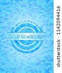 gold membership light blue... | Shutterstock .eps vector #1142094416