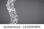 winter frame with white... | Shutterstock .eps vector #1142094893