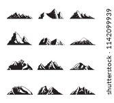 mountain silhouette landscape... | Shutterstock .eps vector #1142099939