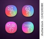 click app icons set. message ...