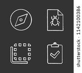 ui ux chalk icons set. explore...