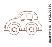 line doodle car toy simple cute ... | Shutterstock .eps vector #1142101880