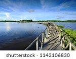 public attractions the wooden... | Shutterstock . vector #1142106830