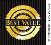 best value golden emblem | Shutterstock .eps vector #1142107136