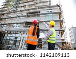 building construction crew   Shutterstock . vector #1142109113