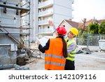 building construction crew   Shutterstock . vector #1142109116