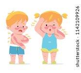 vector illustration kids  boy... | Shutterstock .eps vector #1142109926