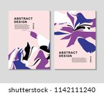 the abstract colorful... | Shutterstock .eps vector #1142111240