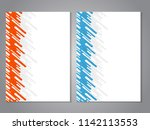 vector modern brochure with... | Shutterstock .eps vector #1142113553
