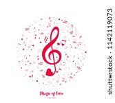 music of love. vector... | Shutterstock .eps vector #1142119073