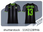 t shirt sport design template ... | Shutterstock .eps vector #1142128946