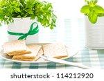 crispbread with herbs | Shutterstock . vector #114212920