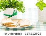 crispbread with herbs | Shutterstock . vector #114212923