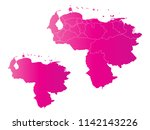 couple set map gradient pink... | Shutterstock .eps vector #1142143226