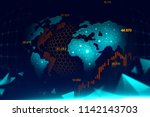 futuristic concept of global...   Shutterstock . vector #1142143703