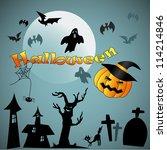 halloween background | Shutterstock .eps vector #114214846