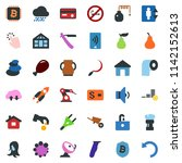 colored vector icon set  ... | Shutterstock .eps vector #1142152613