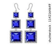 sapphire earrings mockup.... | Shutterstock . vector #1142164649
