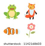 set of vector for learning and... | Shutterstock .eps vector #1142168603