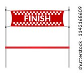 finish line banner with red... | Shutterstock .eps vector #1142168609