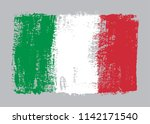 grunge flag of italy.vector... | Shutterstock .eps vector #1142171540