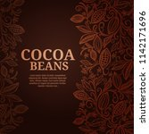 cacao beans plant  vector... | Shutterstock .eps vector #1142171696