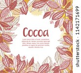 cacao beans plant  vector... | Shutterstock .eps vector #1142171699