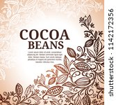 cacao beans plant  vector... | Shutterstock .eps vector #1142172356