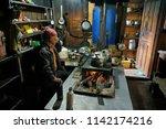 upper pisang  annapurna...   Shutterstock . vector #1142174216