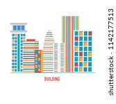 colorful buildings .vector... | Shutterstock .eps vector #1142177513