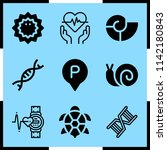 simple icon set of life related ... | Shutterstock .eps vector #1142180843