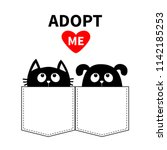 adopt me. don't buy. dog and... | Shutterstock .eps vector #1142185253