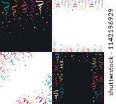 serpentine coil ribbon banner... | Shutterstock . vector #1142196929