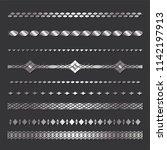 set of seamless  borders. a... | Shutterstock .eps vector #1142197913