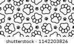 dog paw seamless vector... | Shutterstock .eps vector #1142203826
