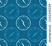 seamless pattern with compass... | Shutterstock .eps vector #1142240339