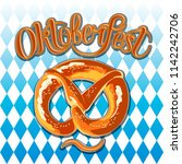 oktoberfest celebration... | Shutterstock .eps vector #1142242706