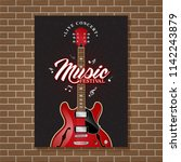 guitar jazz music festival...   Shutterstock .eps vector #1142243879