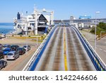 road and station pier driveway... | Shutterstock . vector #1142246606