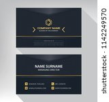 business model name card luxury ... | Shutterstock .eps vector #1142249570