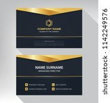 business model name card luxury ... | Shutterstock .eps vector #1142249576