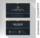 business model name card luxury ... | Shutterstock .eps vector #1142249579