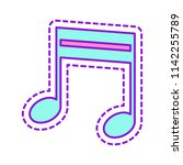 music note icon. colored sketch ...