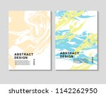 the abstract colorful... | Shutterstock .eps vector #1142262950