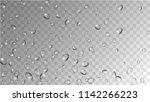 rain drops on transparent... | Shutterstock .eps vector #1142266223